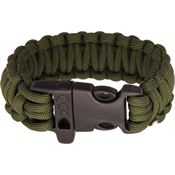 Combat Ready 360 Combat Ready Survival Bracelet OD Green with Paracord Construction