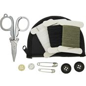 Bushcraft S135AB Sewing Kit In Black Nylon Zippered Storage Pouch
