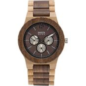 Dakota Watches 2633 Wood Tan Watch with Walnut Bezel