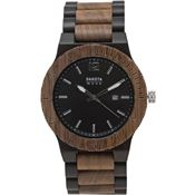 Dakota Watches 2634 Wood Black Watch with Date Feature