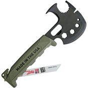 Innovation Factory SAG Off Grid Survival Axe Multi-Tool with Green FRN Handle