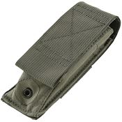 Hogue 35081 Modular MOLLE Velcro Pouch with Ballistic Nylon Construction - OD Green