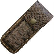 Sheaths 1197 Crocodile Pattern Leather Belt Sheath with Leather Construction