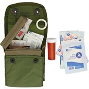 Elite First Aid Kits 102L Individual First Aid Kit with Military Issue OD Green Plastic Box with Pouch