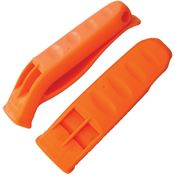 NDUR 51212 Safety Whistle Orange with One Piece Synthetic Construction - 2 Pack