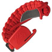 Outdoor Edge PCT80D Paraclaw Trainer Blunt Tip Unsharpened Blade with Red Paracord Construction