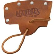 Marbles 10SL Axe Blade Cover Knife with Brown Leather Construction