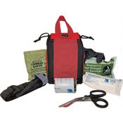 Elite First Aid Kits 144R Red Patrol Trauma Kit Level 1 Red with Nylon Construction