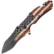 MTech A845F Rescue Linerlock Assisted Opening Knife with Aluminum Handle