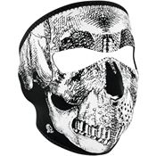 Zan Headgear WNFM002 Full Face Mask BW Skull