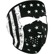 Zan Headgear WNFM091 Full Face Mask BW Flag